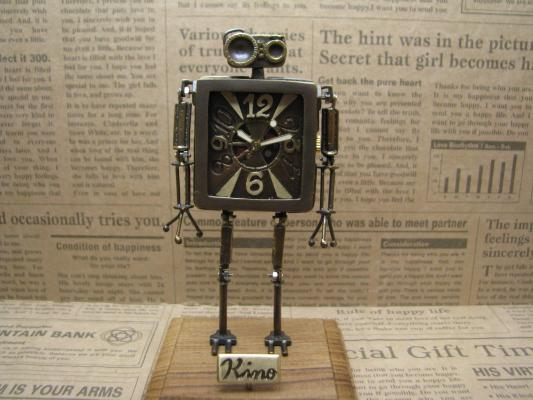 Robot Clock Type2真鍮